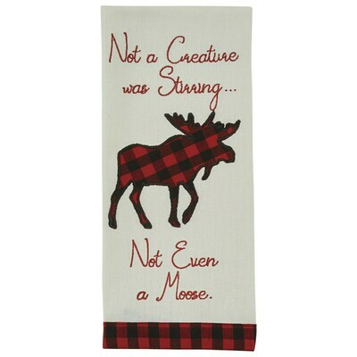 Not A Creature Was Stirring Dishtowel