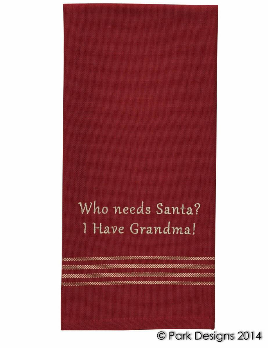 Who Needs Santa? Dishtowel