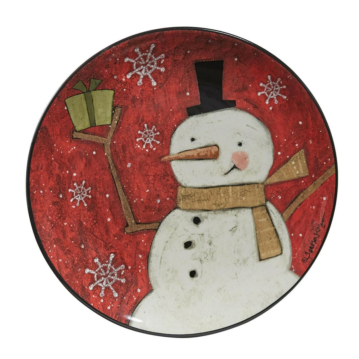 Snow Friends Snowman Salad Plate