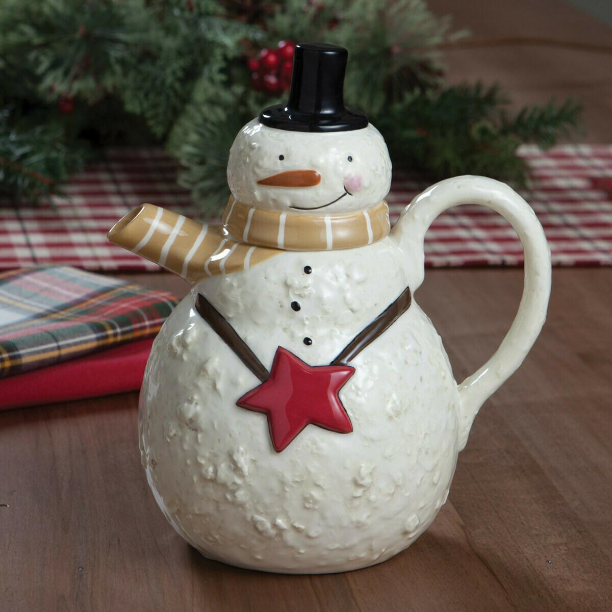 Snow Friends Snowman Teapot