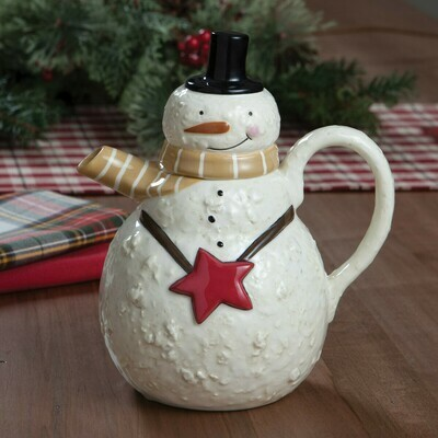 Snow Friends Snowman Teapot