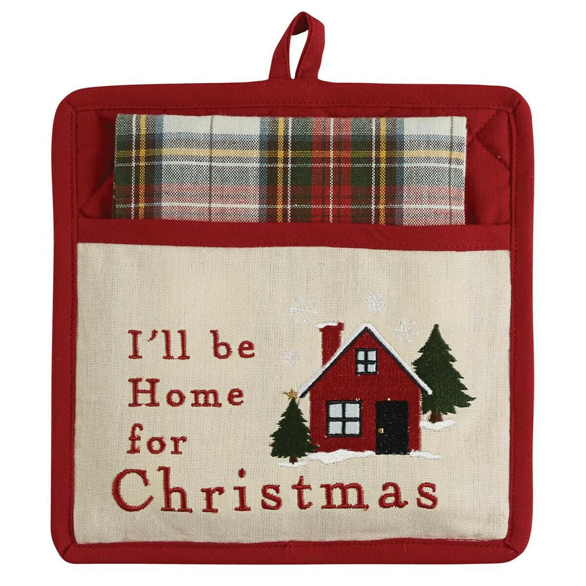 I'll Be Home Pocket Potholder Set