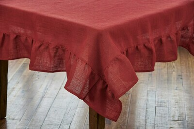 Red Jute Table Square 54X54