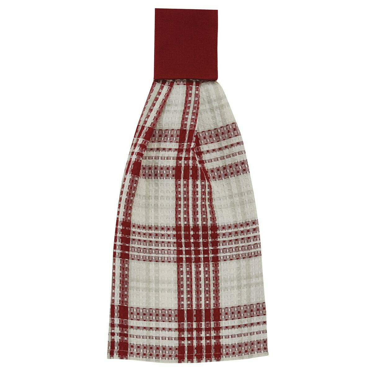 Peppermint Plaid Hand Towel