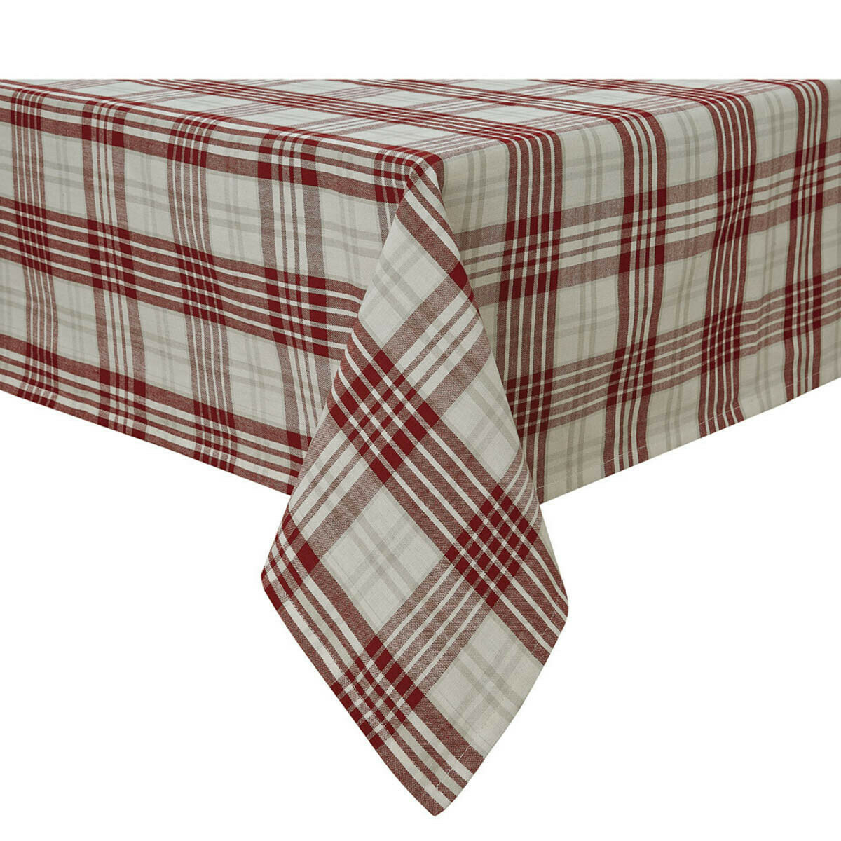 "Peppermint Plaid 54""X54"" Tablecloth"