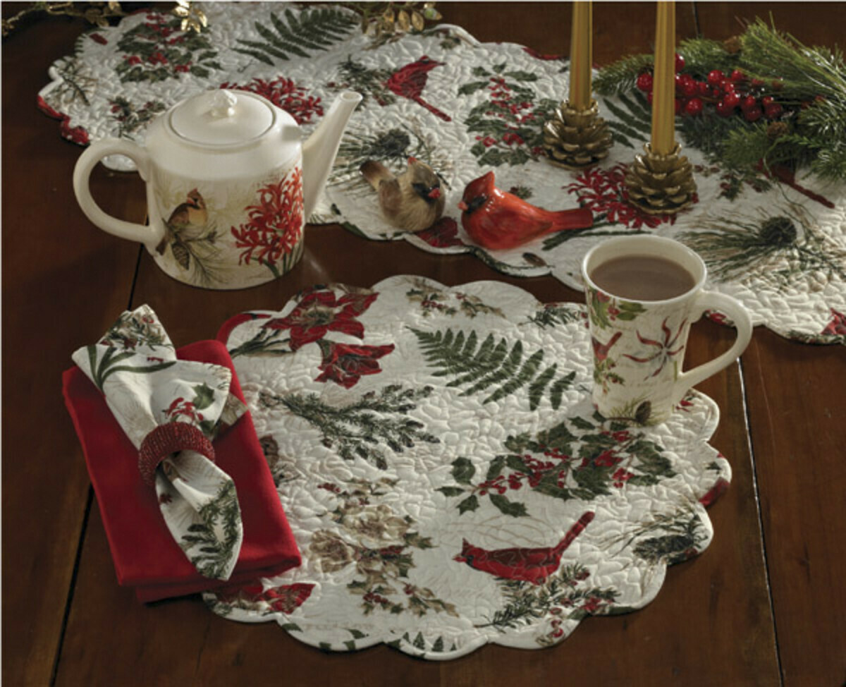 Nature Sings Quilted Round Placemat