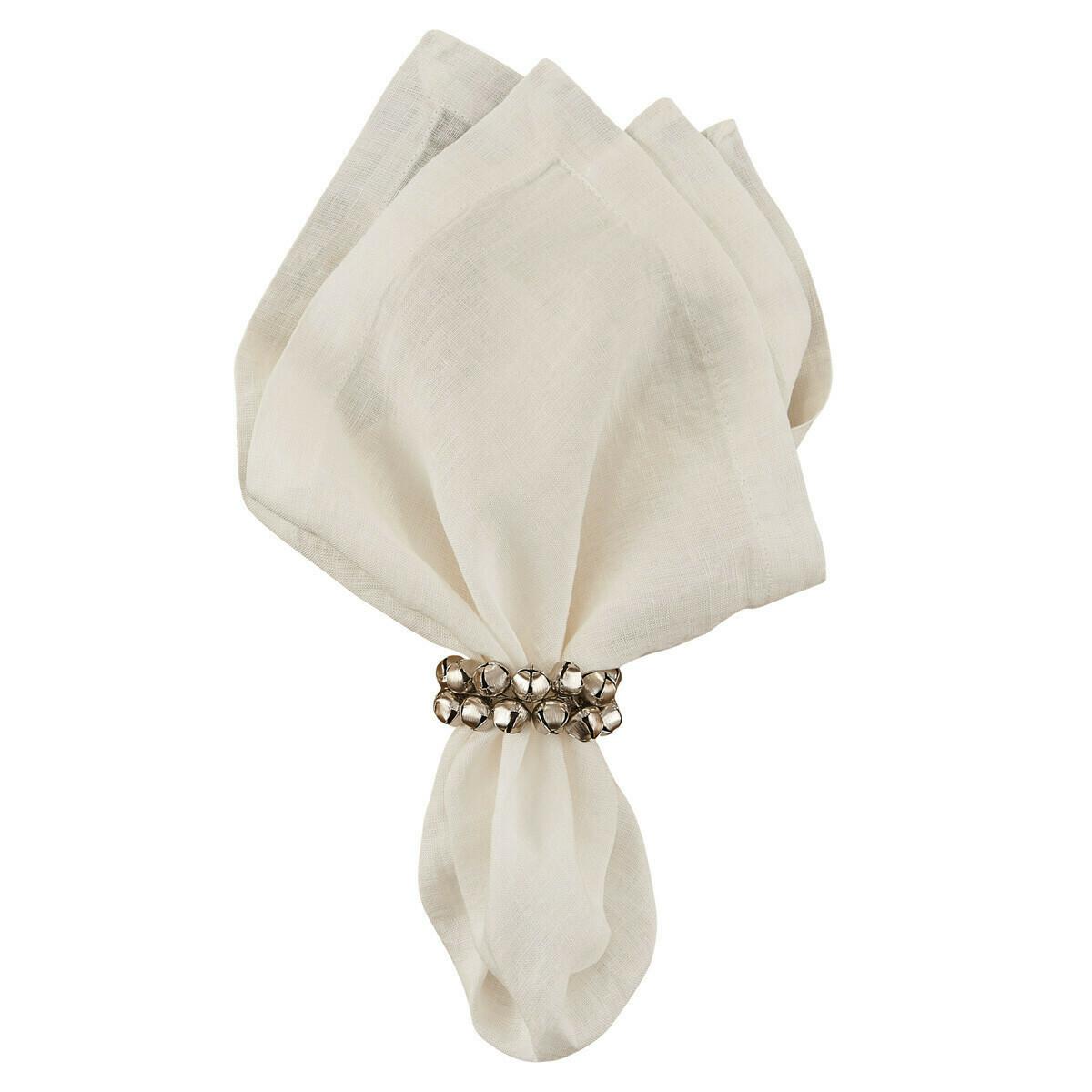 Silver Jingle Bell Napkin Ring