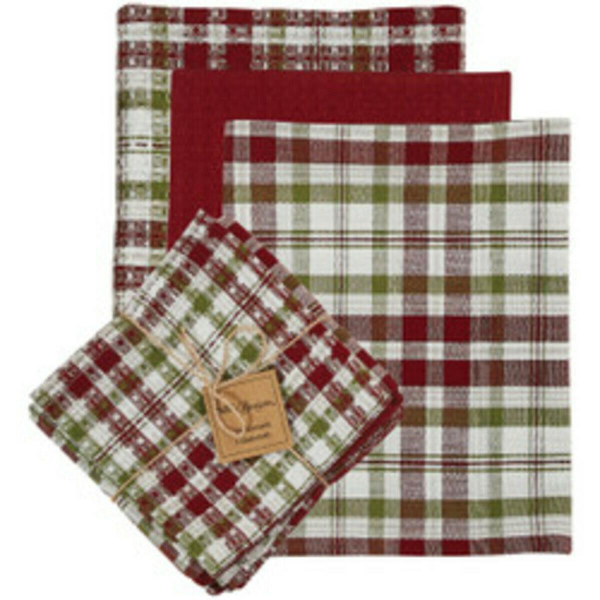 Town Square 3 Dishtowel & 1 Dishcloth Set