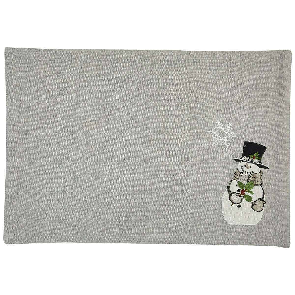 Snowman and Holly Placemat