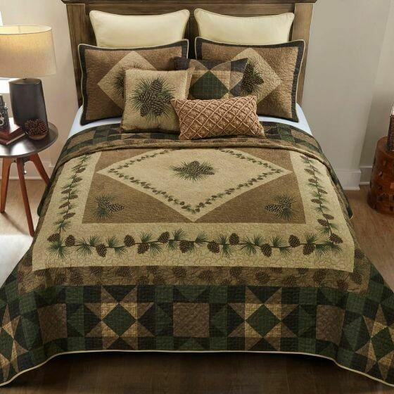 Antique Pine Queen Quilt Set