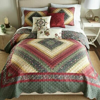 Spice Postage Stamp Full/Queen Quilt