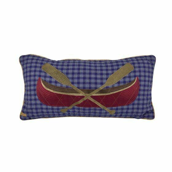 Lakehouse Rectangular Canoe Pillow