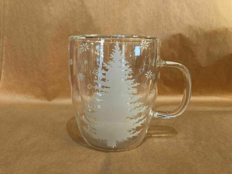 White Tree Glass Mug