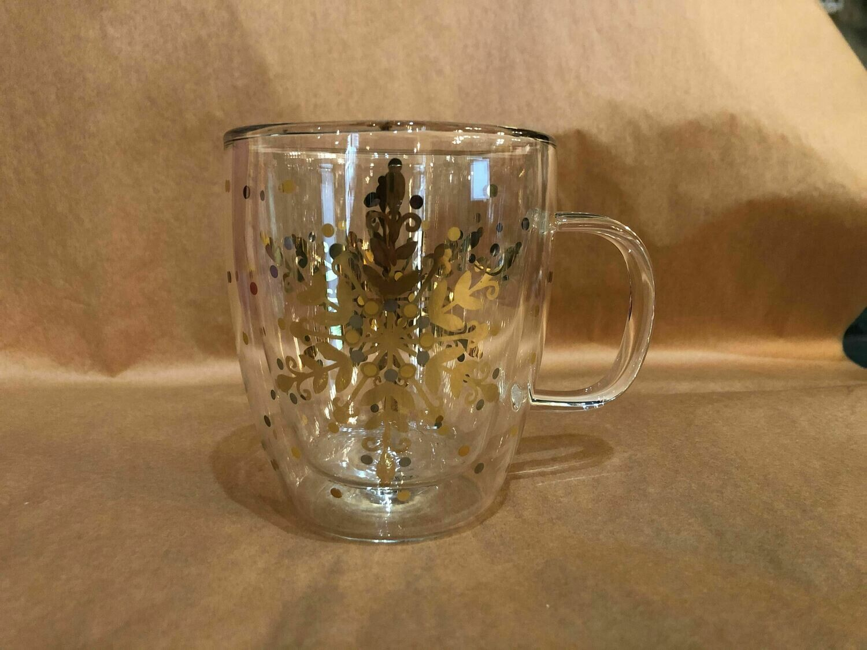 Gold Star Glass Mug
