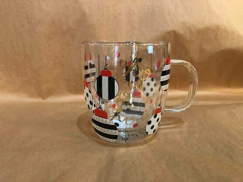 Ho Ho Ornament Glass Mug