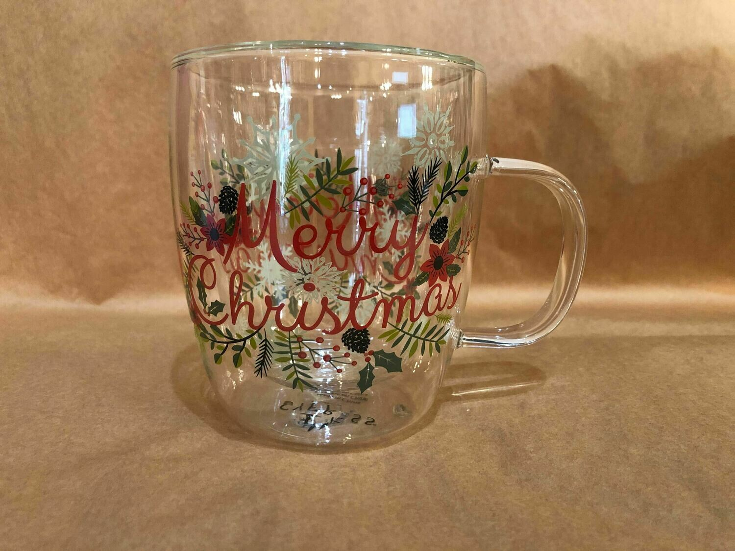 Merry Christmas Glass Mug