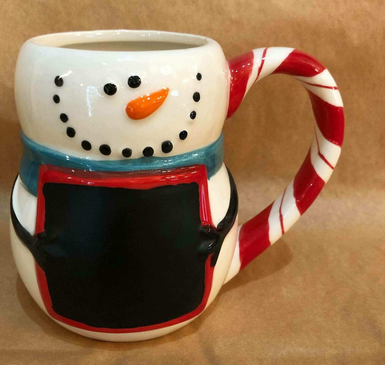 Chalkboard Snowman Mug