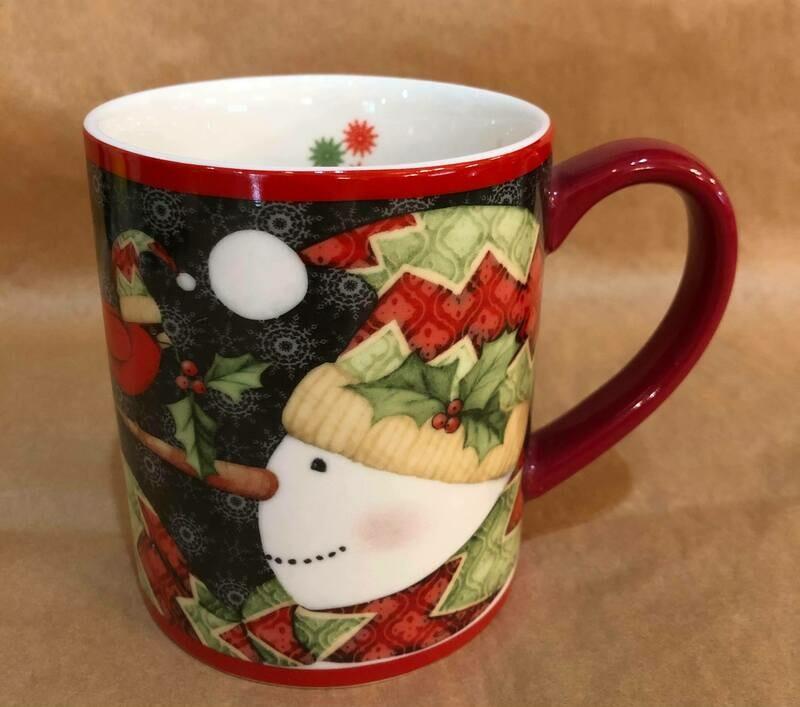 Snowman and Cardinal Mug