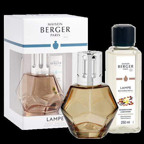 Honey Geometry Lamp Gift Set with Amber Powder