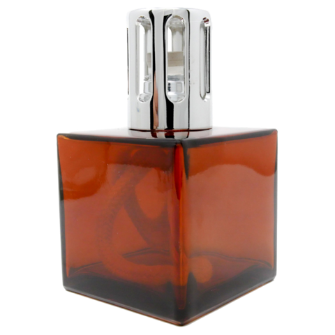 Amber Cube Lamp