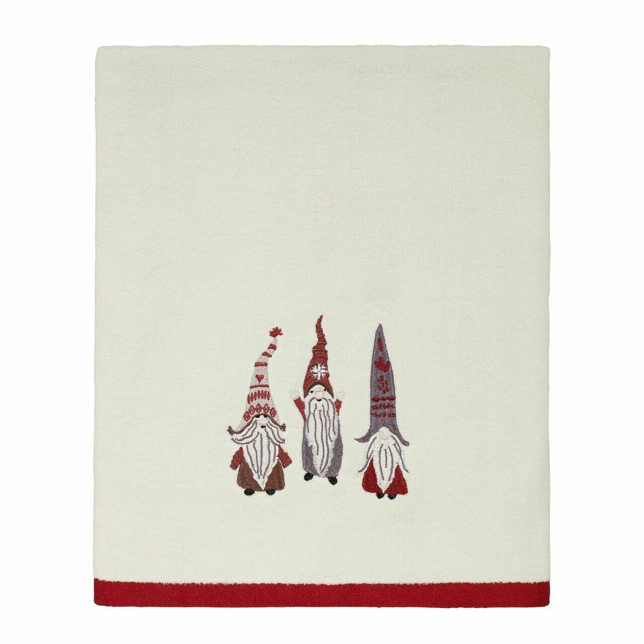 Ivory Christmas Gnomes Bath Towel