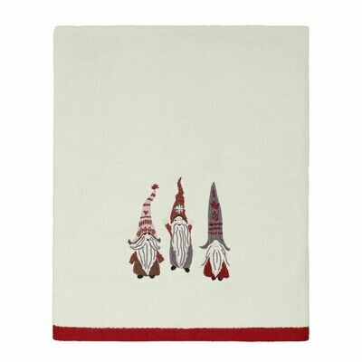 Ivory Christmas Gnomes Bath Towel