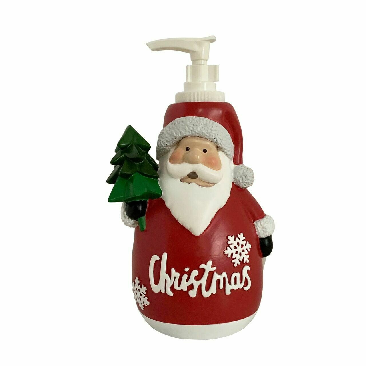 Santa with Tree Soap Dispenser