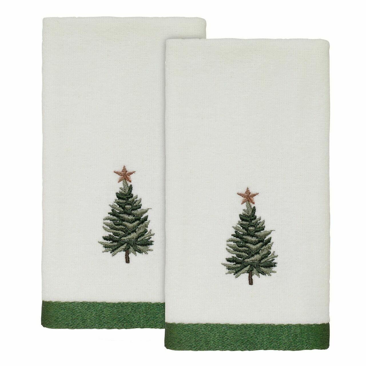 White Trees Fingertip Towels 2 Pack