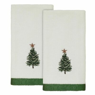 White Trees Fingertip Towels 2 Pack