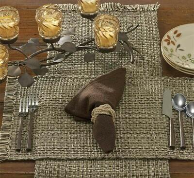 "Tweed Espresso Table 36"" Runner"