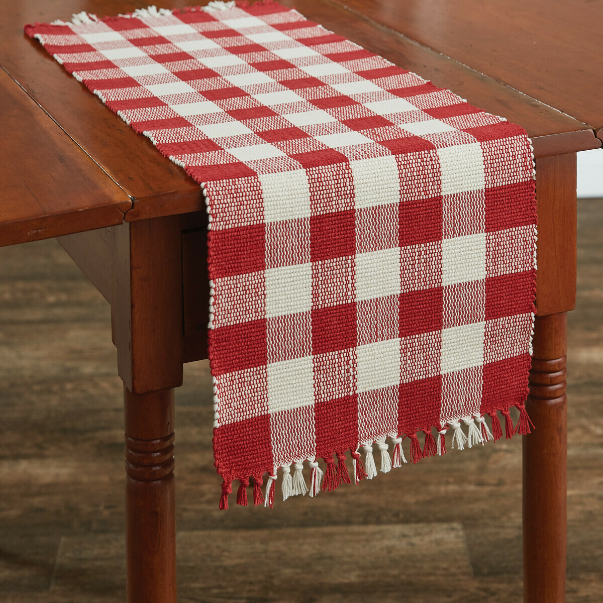 "Wicklow Check Red & Cream 36"" Runner"
