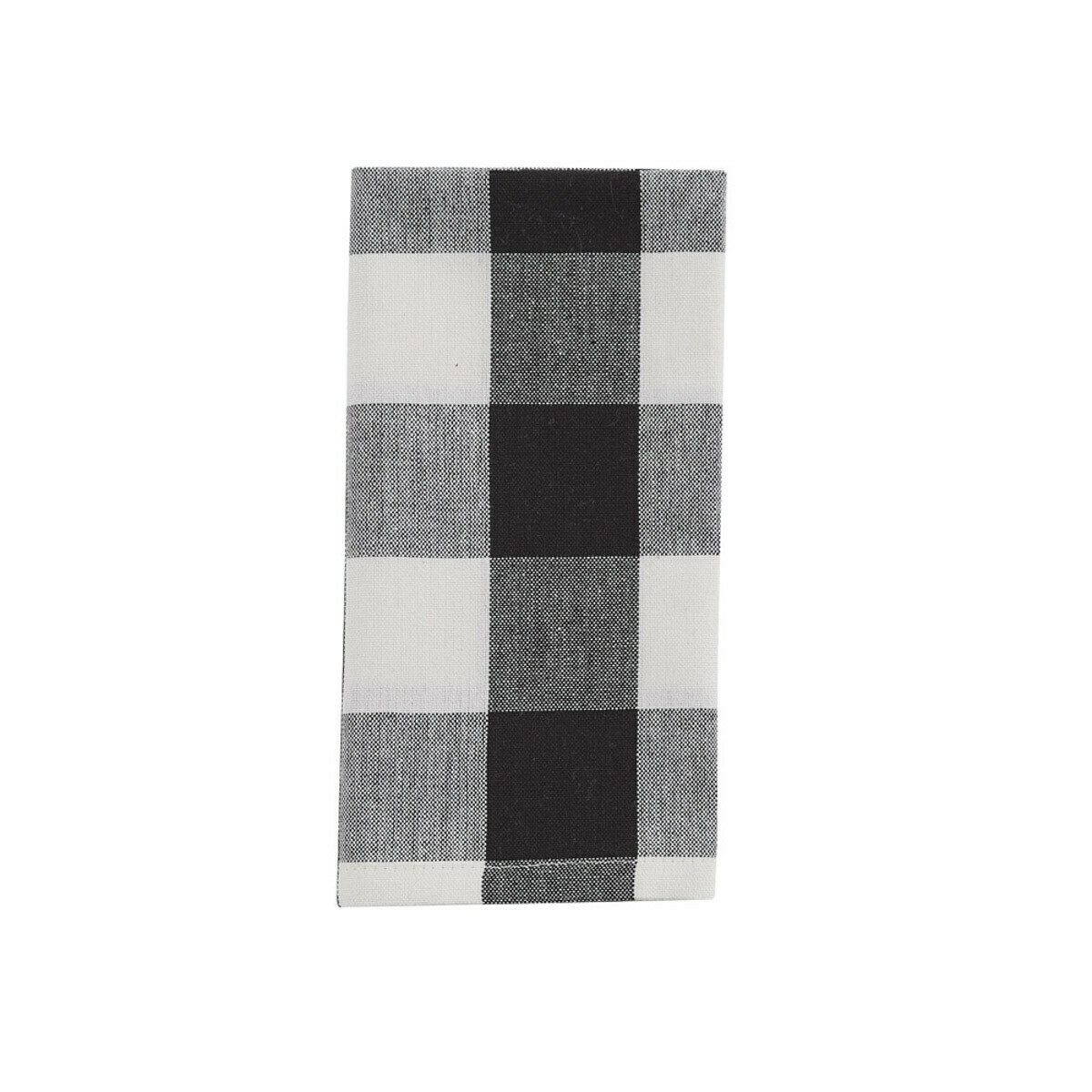 Wicklow Check Black & Cream Napkin