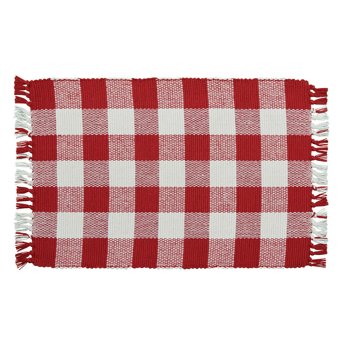Wicklow Check Red & Cream Placemat