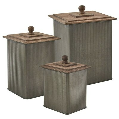 Norwood Canisters with Wood Lids