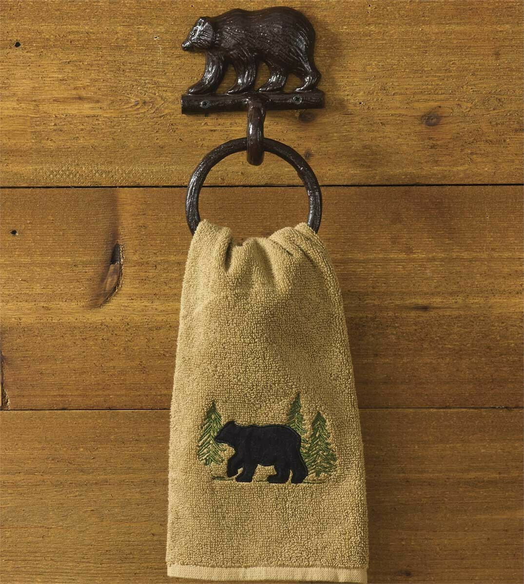 Cast Bear Towel Ring Hook