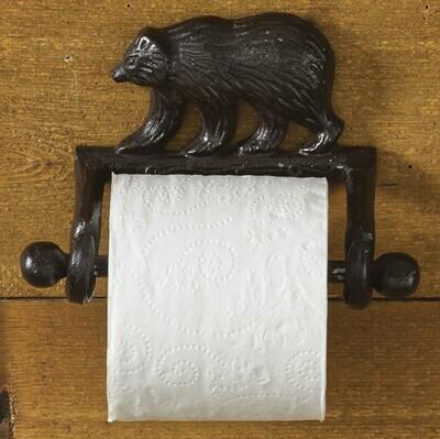 Cast Bear Toilet Tissue Holder
