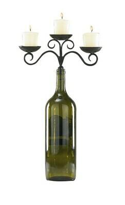Three Votive Wine Bottle Topper