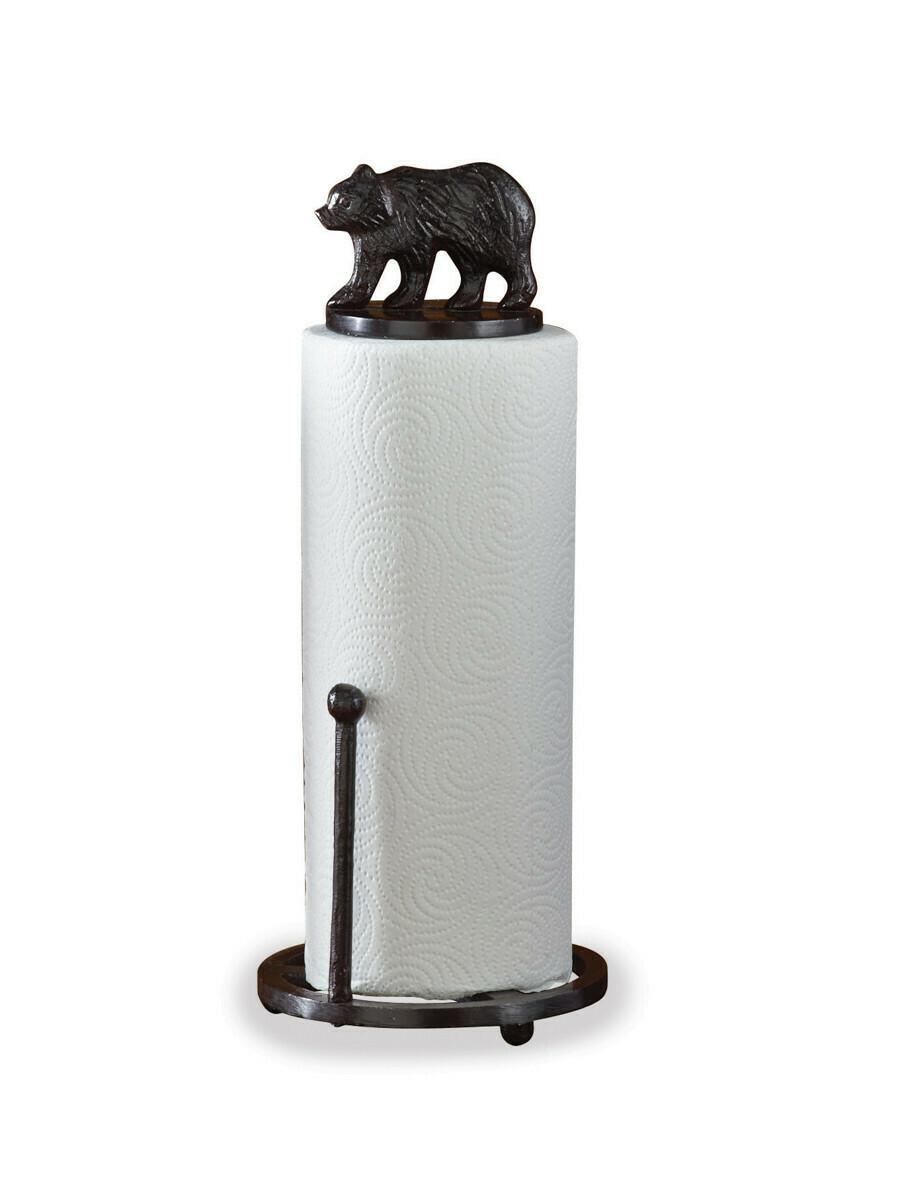 Cast Bear Paper Towel Holder