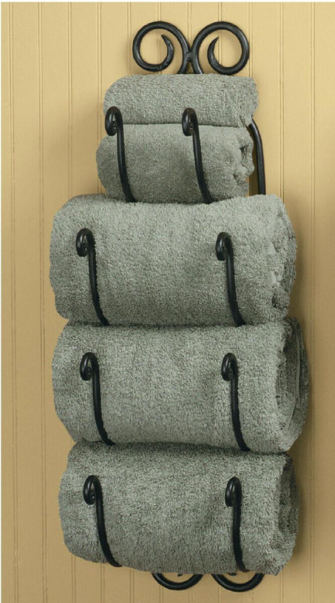 Scroll Bath Towel Holder