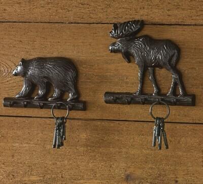 Cast Bear Key Hook