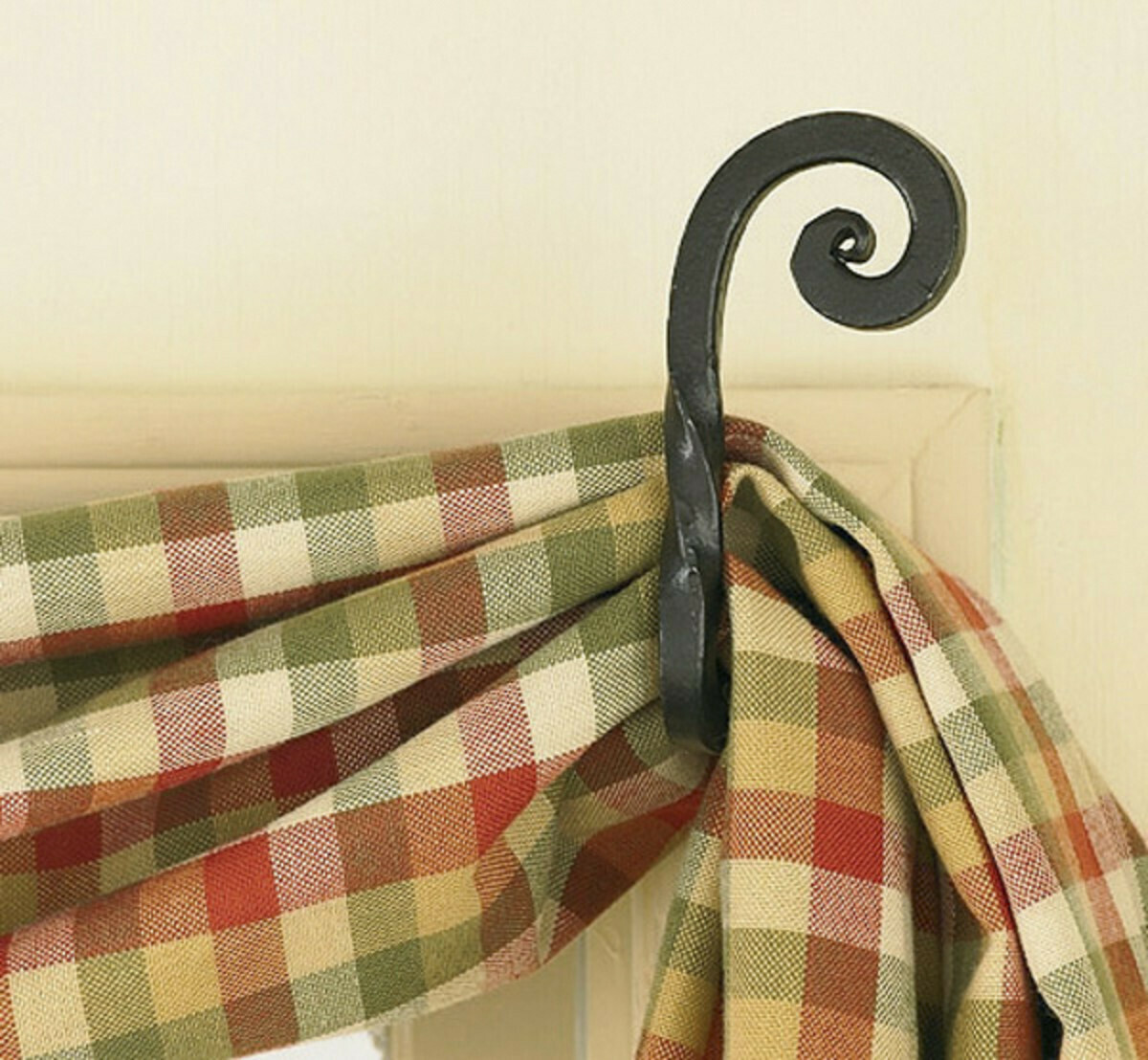 Forged Scroll Curtain Tie Back