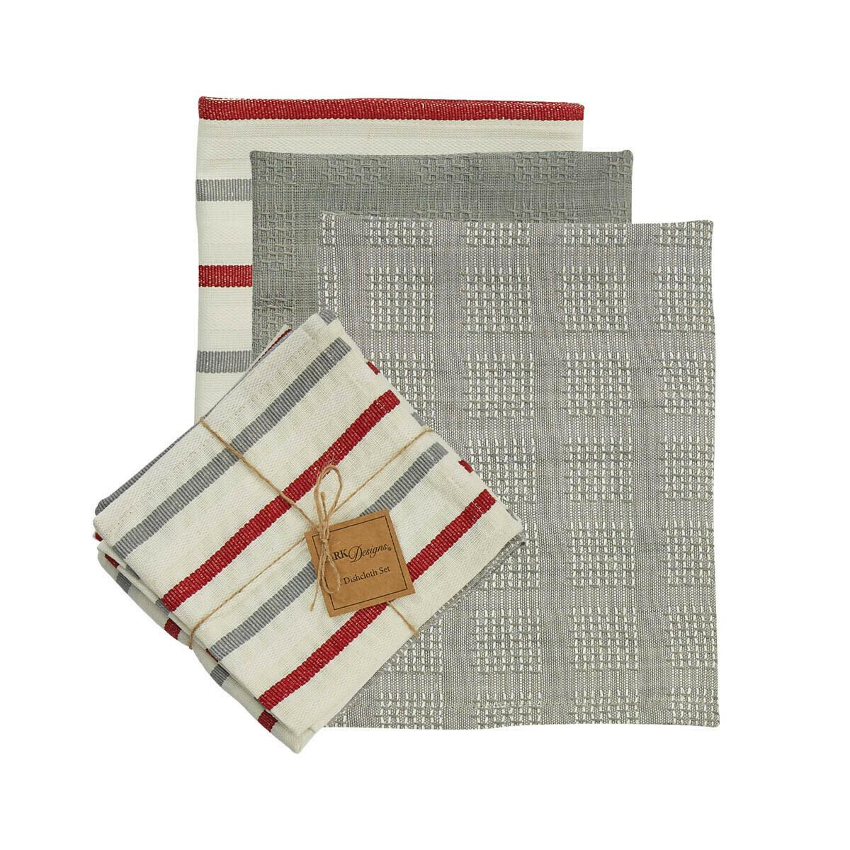 Farm Yard 3 Dishtowel & 1 Dishcloth Set