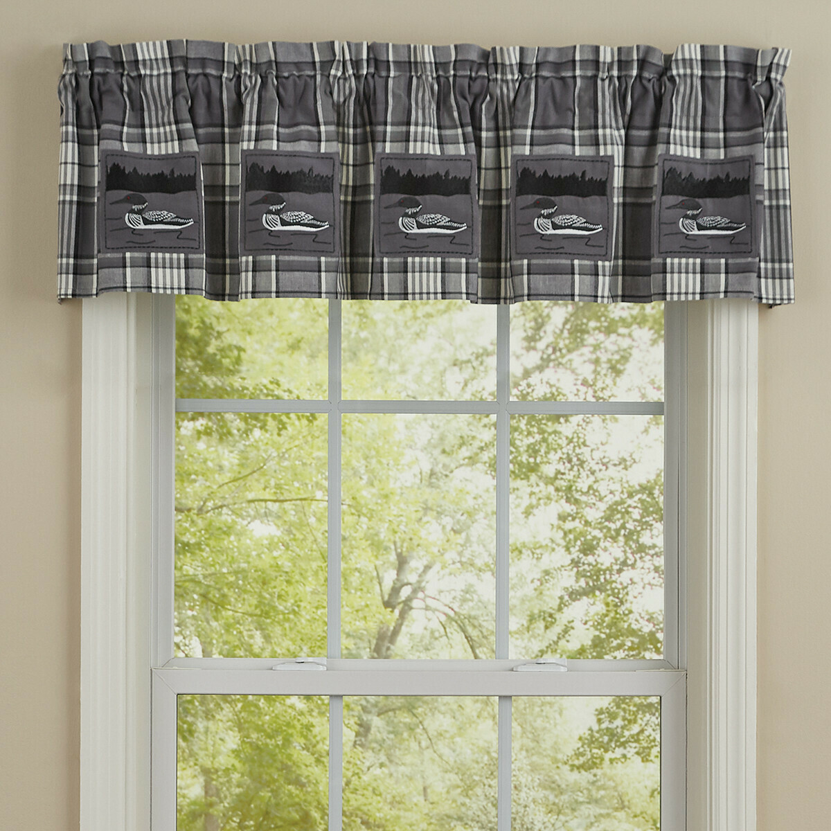 Grey Area Loon Lined Patch Valance