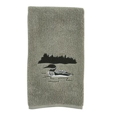 Grey Area Loon Fingertip Towel