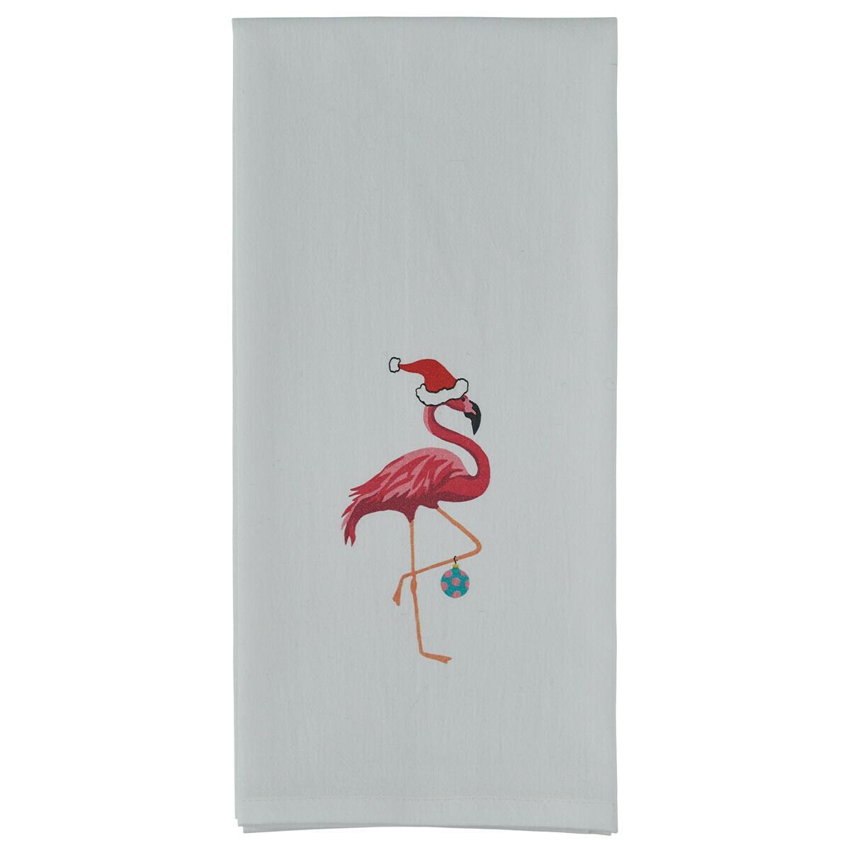 Christmas Flamingo Printed Towel