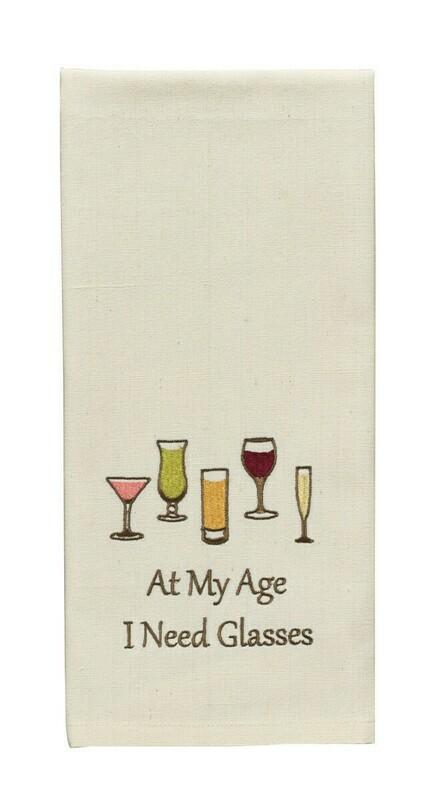 At My Age I Need Glasses Dishtowel