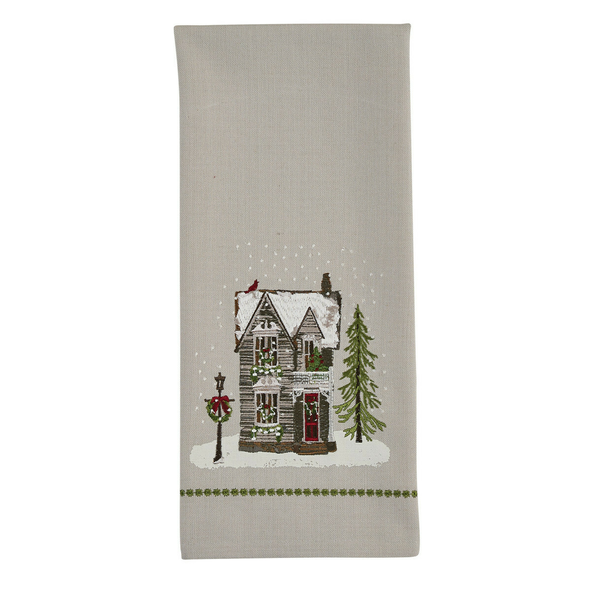 House Printed & Embroidered Dishtowel