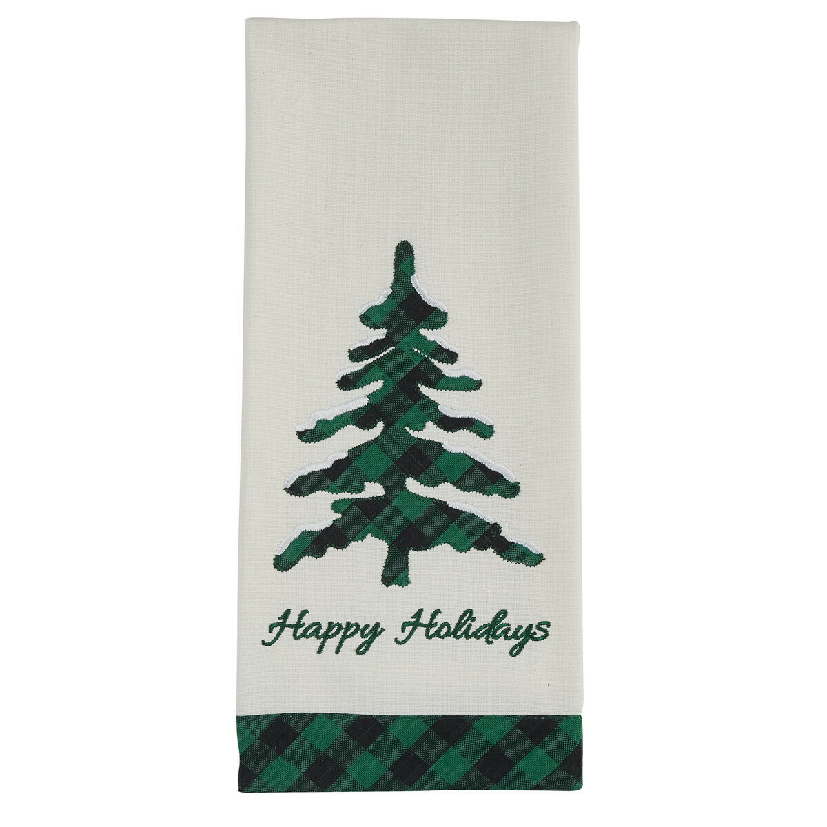 Happy Holidays Applique Dishtowel
