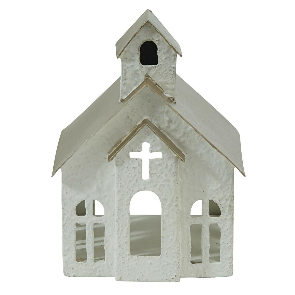 Metal Church Tea Light Holder