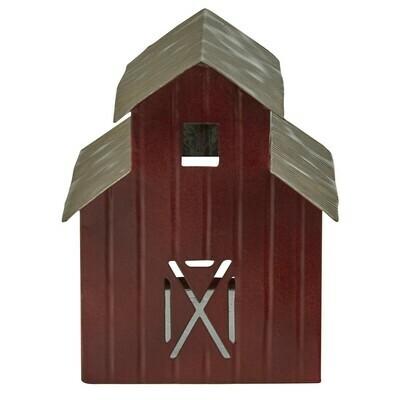 Metal Barn Tea Light Holder